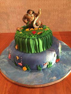 Cubs Cake For First Birthday Baseball Diamond On Pinstripe Bottom - Maui birthday cakes
