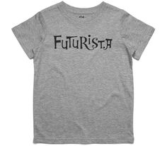 El Cheapo Futurista (Black) Youth Grey Marle T-Shirt