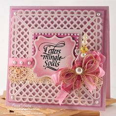 Beautiful frame card made with wide border punch