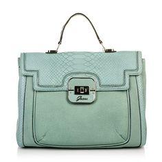 Tasche von GUESS: Twyla Top Handle Flap Sky — Fashionette.de  GUESS bag: Twyla Top Handle Flap Sky — Fashionette.de