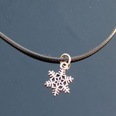 N844 Copo de Nieve Colgante Collares Collares de Cadena de Joyería de Moda de Cuero de Las Mujeres Bijoux Clavícula Collares de Flores de Regalo de Navidad