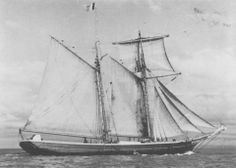 """L'Oceanide"", celebrated in Wales as  star of the Breton Topsail Schooners."