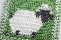 Crochet Bobble Stitch Sheep Square - Repeat Crafter Me