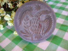 4in wide (with a handle) Antique Butter Press/Stamp Eagle