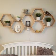 Set of 6 Medium Deep Hexagon Shelves, Honeycomb Shelves, Floating Shelves, Geometric Shelves Decor, Shelves, Geometric Shelves, Honeycomb, Bathroom Wall Decor, Floating Shelves, Hexagon Shelves, House Plants Decor, Hexagon
