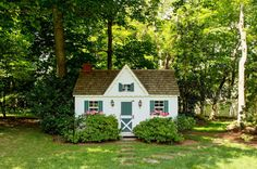Cute garden shed / children's playhouse ~ Elisabeth Hasselbeck Lists home in Greenwich | Variety