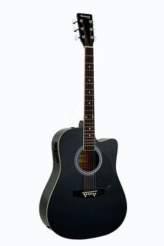 Amazon.com: Full Size RED Acoustic Electric Guitar Cutaway with 3 EQ, & DirectlyCheap(TM) Translucent Blue Medium Guitar Pick: Musical Instruments