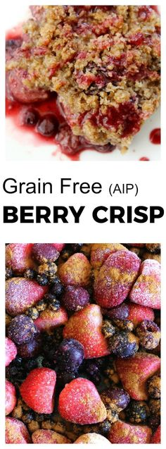 Whether this crisp is made from berries that are fresh or from frozen berries during the winter months it will be an instant family favorite and crowd pleaser. Grain free and approved for those following the Paleo Autoimmune Protocol diet.
