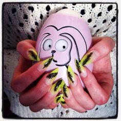 Sulkakynnet. Feather nails. www.studiorose.fi Feather Nails, Gel Nails, Studio, Rose, Gel Nail, Pink, Roses, Study, Gel Nail Art