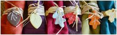 Two Shades of Pink: Fall Leaf Napkin Tags