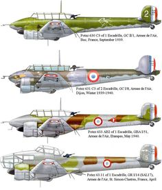 The Potez 630 and its derivatives were a family of twin-engined aircraft developed for the Armée de l'Air in the late The original Potez 630 was. Air France, Ww2 Aircraft, Military Aircraft, Luftwaffe, Bristol Blenheim, Fighting Plane, Fiat 126, French Colors, Air Fighter