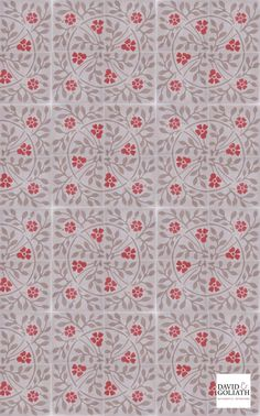 David & Goliath Cement tile Roseline Red 20x20cm