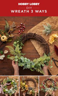 Embellish a grapevine wreath to make a statement piece perfect for any season. We have three ideas to get you inspired to DIY!