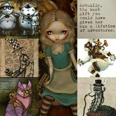 Alice in Wonderland Steampunk Collage