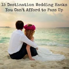You're in paradise! Don't let something small ruin your wedding day. Check out these super helpful destination wedding hacks to make your day much easier!