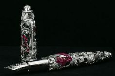 """It has an amazing body made of white gold, adorned with rubies, sapphires, or emeralds and accented by diamonds. All three types are amazing and only three of each kind have been launched making it a total of nine pens to be sold worldwide. Each pen has 840 diamonds and more than 20 carats of gemstones set in a Van Cleef & Arpels patented """"Mystery Setting"""". This conceals gemstone settings and as a result an illusion is created which shows the emeralds, rubies and sapphires floating…"""