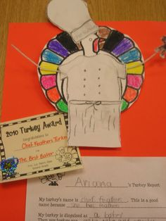 Buzzing About Second Grade: Thanksgiving; turkey