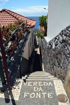 Street names in cobblestones, Jardim do Mar, Madeira island Cool Places To Visit, Places To Travel, Places To Go, Portuguese Tiles, Turkish Tiles, Portugal, Street Names, Pavement, Cement Tiles