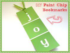 Classroom DIY: DIY Paint Chip Bookmarks