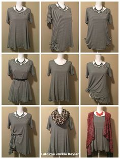 9 ways to wear your LuLaRoe Perfect Tee! Love how versatile LuLaRoe is! Look Fashion, Fashion Beauty, Fashion Tips, Lula Outfits, Work Outfits, Mode Plus, Lularoe Perfect, Business Fashion, What To Wear