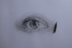 Ieva Eye Study, Pencil Drawing 8B, 2B Faber Castell Pencils
