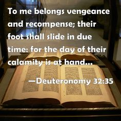 Quotes On Gods Vengeance and Recompense