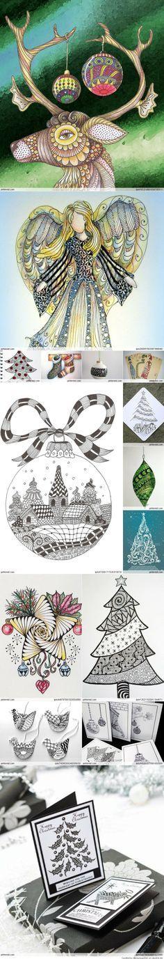 Christmas Zentangle Patterns!
