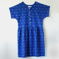 Image of Marguerite Dress No.4- Cotton Ikat
