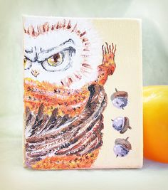 Hand painted canvas owl  $19.00