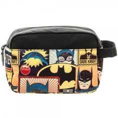 DC-Comics-BATMAN-Retro -Licensed-Printed-LG-Classic-Mens-DOPP-KIT-Toiletry-Bag f01ed0f5798f9