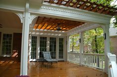 multi level deck design ideas for above ground pools Back Deck Designs, Covered Deck Designs, Covered Decks, Covered Porches, Porch Designs, Steel Pergola, Wood Pergola, Pergola Kits, Pergola Ideas
