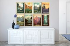 Imagine an easy home decor idea that comes ready to hang and makes a huge statement! That's why we love these National Park travel posters! Tons of designs to choose from!