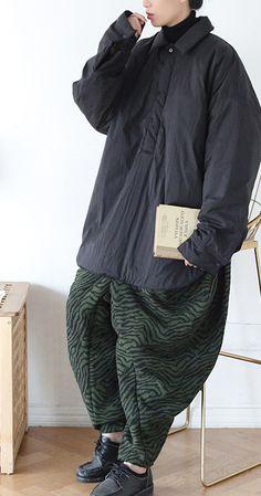 Winter new original design sense loose large size niche lapel shirt cotton jacket loose thick padded jacket