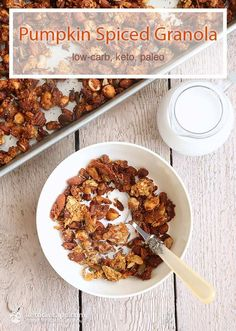 Pumpkin Spiced Granola (low-carb, keto, paleo)