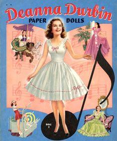 1941 Deanna Durbin paper doll / eBay