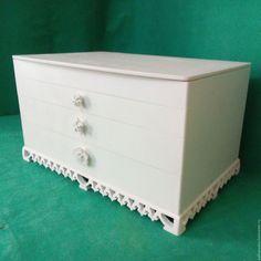 Купить Мини-комод Сад Королевы. Шкатулка для украшений - белый, мини-комод, мини-комодик