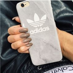 Phone cover: adidas iphone iphone case grey white adidas case ❤ liked on Polyvore featuring accessories, tech accessories, iphone cover case, white iphone case, iphone cases, iphone sleeve case and adidas