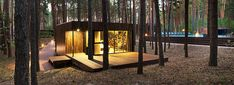YOD Studio adds gorgeous new cabins to Ukraine's forested Relax Park Verholy