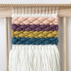 Mini woven wall hanging Dream Catcher Decor, Woven Wall Hanging, Merino Wool Blanket, Pop Up, Loom, Ash, Hand Weaving, Bring It On, Simple