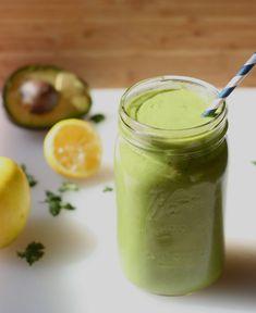 creamy delicious apple avocado green smoothie