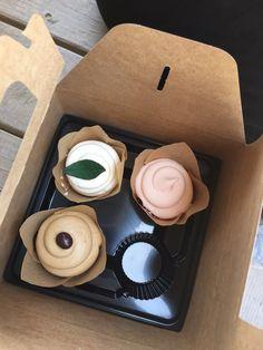 Photo of The Magnolia Market - Waco, TX, United States. Cupcakes from Magnolia Flour Bakery