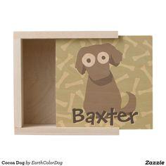 Cocoa Dog Wooden Keepsake Box