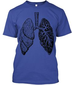 Body Rythm Tees   Ltd Edition Deep Royal T-Shirt Front