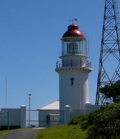 The Hood Point Lighthouse on the West Bank was built in Dark Places, Places To Go, Lighthouse Lighting, Beacon Of Hope, Point Light, Water Art, African Countries, East London, Amazing Architecture