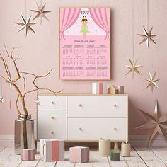 Ballerina Calendar Nursery Calendar 2018 Calendar Yearly
