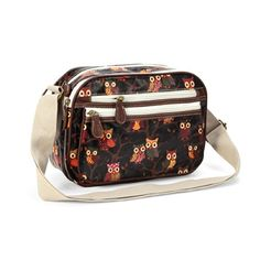 Oilcloth Owl Polka Dots Small Messenger Cross Body Satchel Shoulder Bag Zipper Bag -- See this great image @
