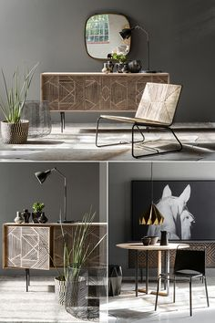 The hand-designed Himba sideboard illustrates how bold design can give a small space warmth and character