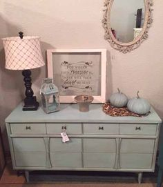 Annie Sloan Chalk Paint mix of Provence and Pure White