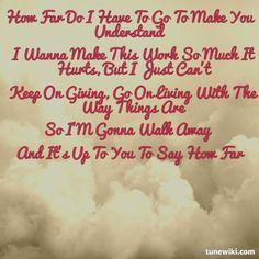 """-- #LyricArt for """"How Far"""" by Martina McBride"""