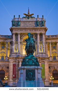 Vienna's Imperial Palace at night